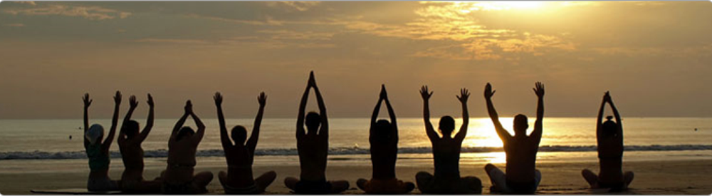 Meditation Yoga Therapy Services Banner Class Beach BANNER